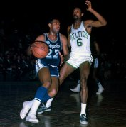 Elgin Baylor with Russell