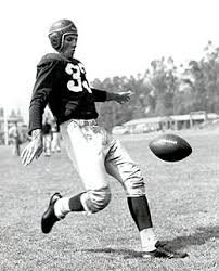 Sammy Baugh punting