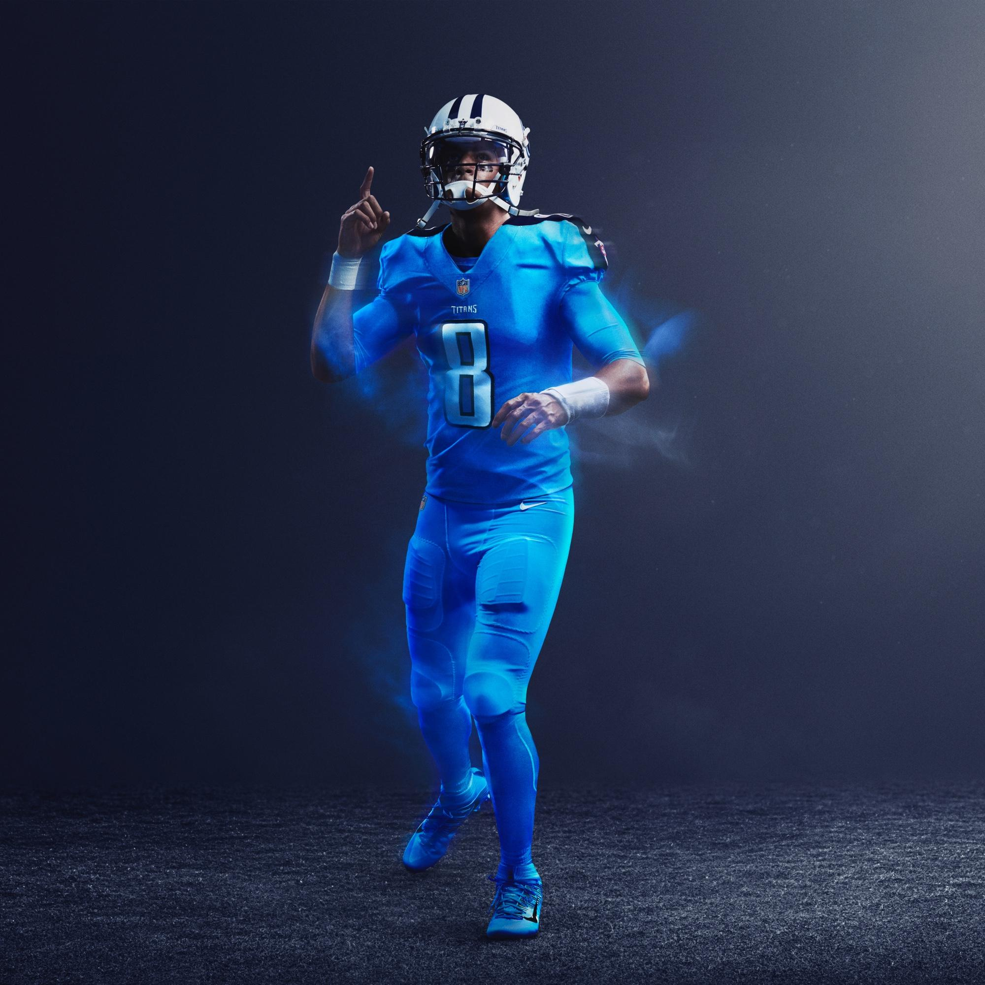 abcd68f25 Nike NFL color rush titans player jersey
