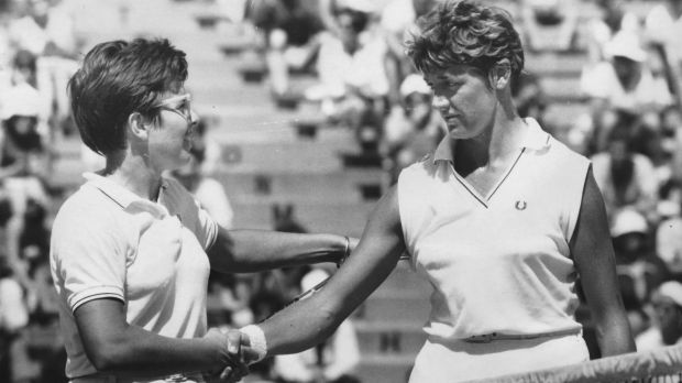 Margaret Court and Billie Jean King
