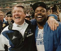 Jimmy Johnson and Emmit Smith