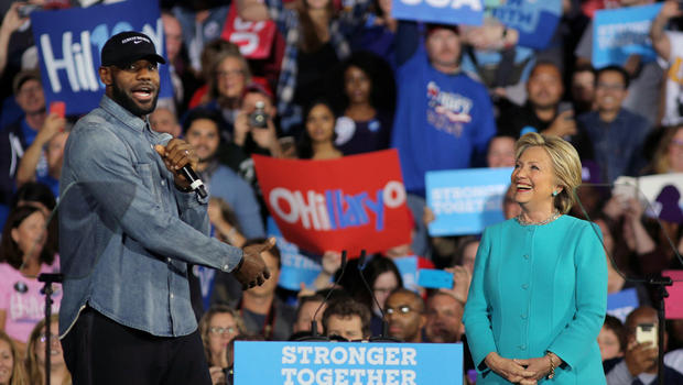 Lebron Campaigns for Clinton