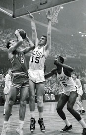 Tommy Heinsohn Blocking Shot